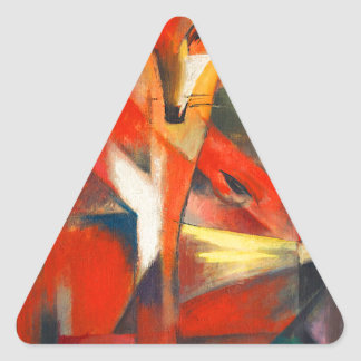 Franz Marc The Foxes Triangle Sticker