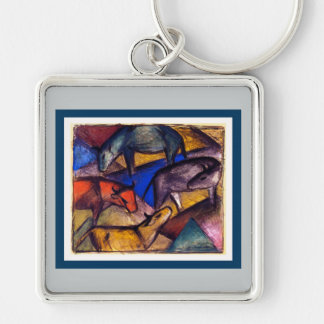 Franz Marc The Three Cows Keychain for Art Lovers
