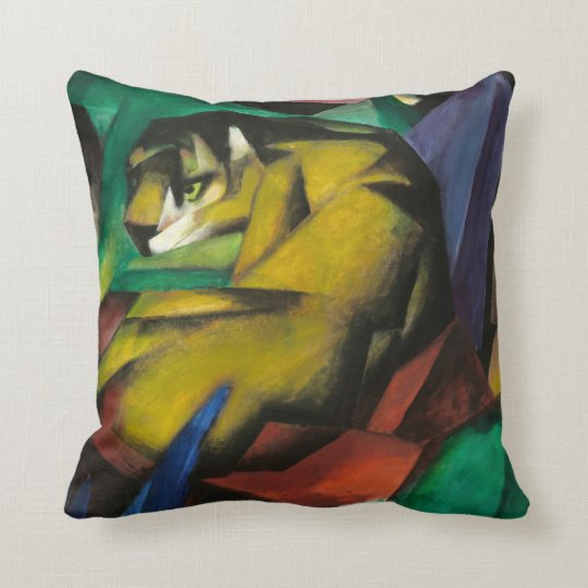 Franz Marc The Tiger Throw Pillow