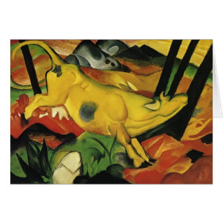 Franz Marc- The Yellow Cow Card