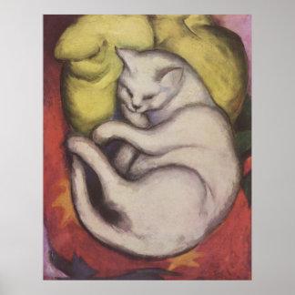 Franz Marc - Tomcat w/ Yellow Cushion 1912 Cat Tom Poster