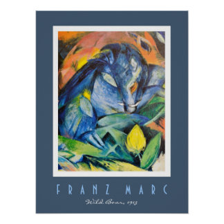Franz Marc Wild Boar with Sow Expressionist Art Posters