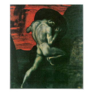Franz von Stuck - Sisyphus Poster