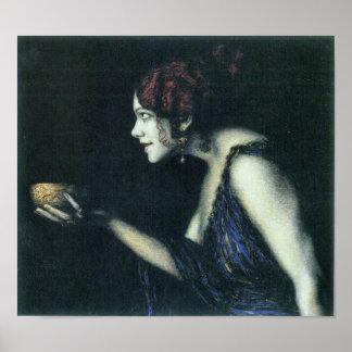 Franz von Stuck - Tilla Durieux as Circe Poster