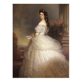 Franz Winterhalter- Elizabeth, Empress of Austria Postcard