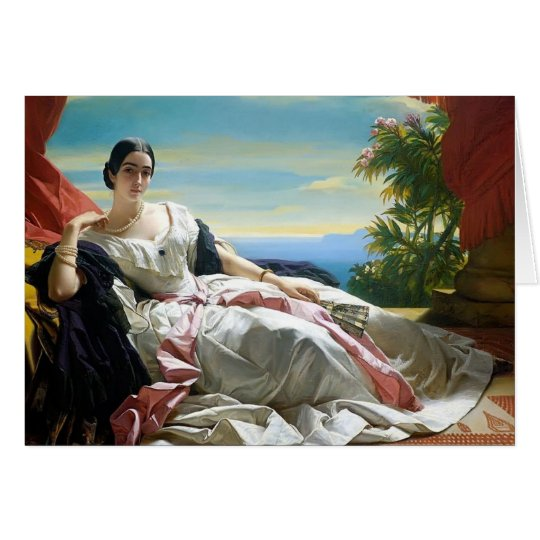 Franz Winterhalter- Portrait of Leonilla Card