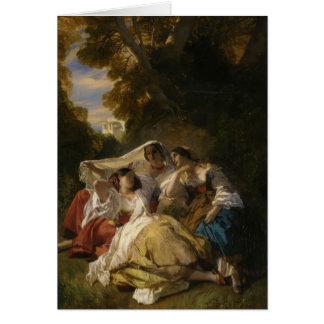 Franz Xaver Winterhalter- La Siesta Card