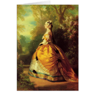 Franz Xaver Winterhalter- The Empress Eugénie Card