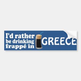 Frappé in Greece Bumper Sticker