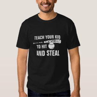 Frappez et volez le base-ball t-shirt