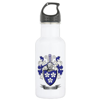 Fraser Family Crest Coat of Arms 532 Ml Water Bottle