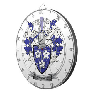Fraser Family Crest Coat of Arms Dartboard