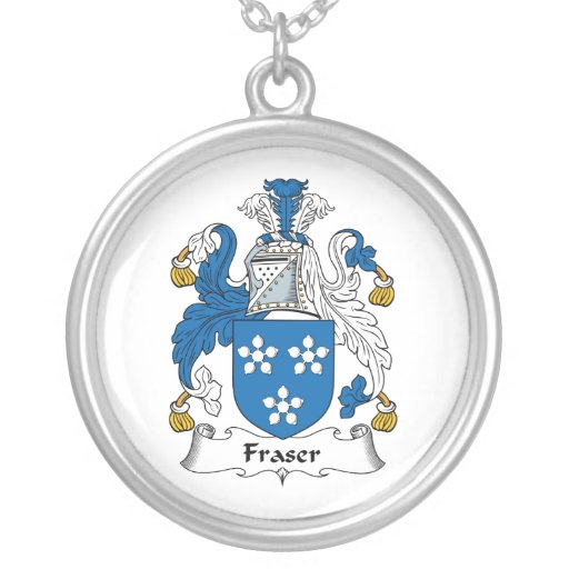 fraser family crest pendant necklace zazzle