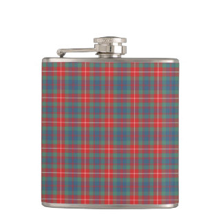 Fraser of Lovat Blue and Coral Ancient Tartan Hip Flask
