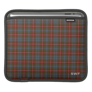 Fraser of Lovat Clan Reproduction Tartan Monogram iPad Sleeve