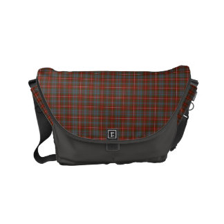 Fraser of Lovat Reproduction Tartan Red Plaid Courier Bags