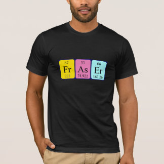 Fraser periodic table name shirt