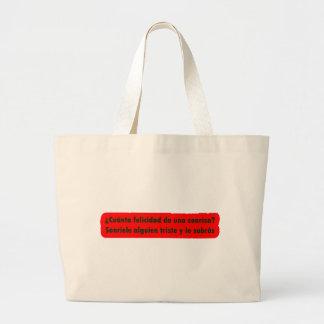 Frases master 13.05 large tote bag