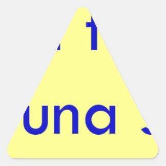 Frases master 13.11 triangle sticker