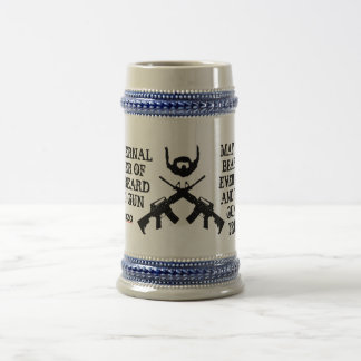Fraternal Order of the Beard and Gun Beer Stein