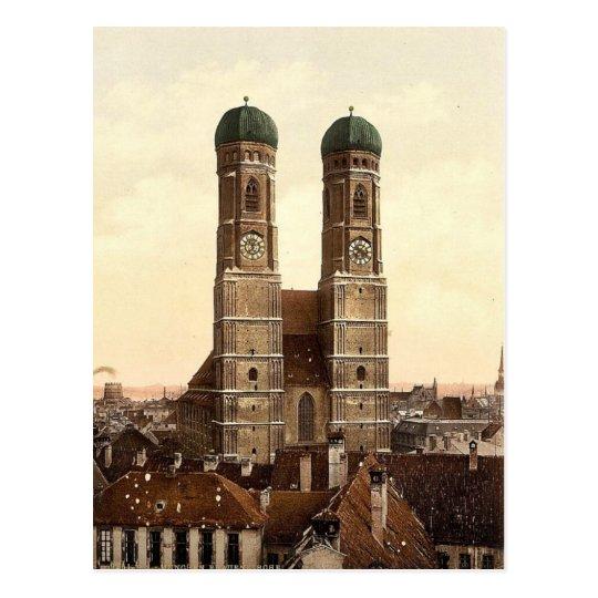 Frauen Church (i.e. Frauenkirche), Munich, Bavaria Postcard
