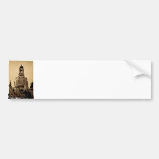 Frauenkirche Dresde - cru Autocollant De Voiture