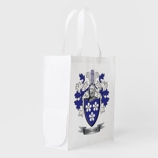Frazier Family Crest Coat of Arms Market Tote