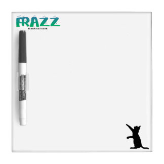 Frazz! Black Cat Dry Erase Board