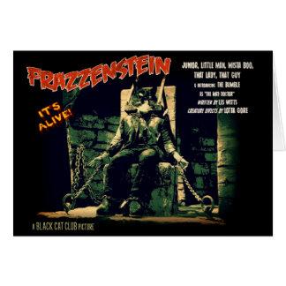 Frazzenstein Monster Cat Greeting Card