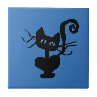 Frazzle Kitty Cartoon Cat Tile