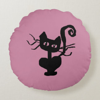 Frazzle Kitty Home Decor Round Pillow