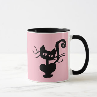 Frazzle Kitty II Black 11 oz Combo Mug