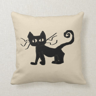 "Frazzle Kitty Throw Pillow, Throw Pillow 16"" x 16"""