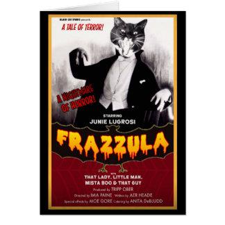 Frazzula! A Monster Cat Halloween Note Card