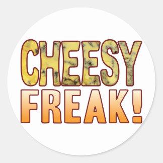 Freak Blue Cheesy Round Sticker
