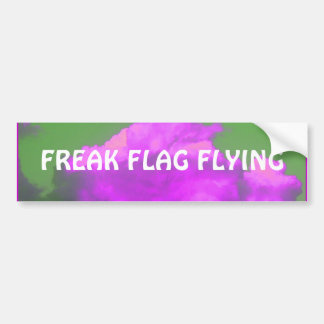 Freak Flag Flying Bumper Sticker