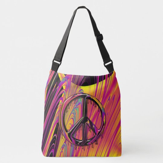 Freak Flag Psychedelic Hippy Couture Crossbody Bag
