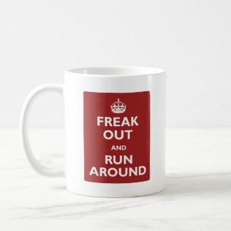 Freak Out and Run Around Basic White Mug