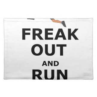 Freak Out And Run Around, funny scared girl design Placemat