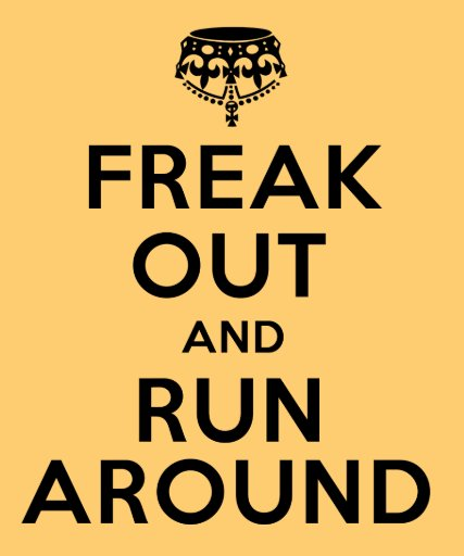 freak out and run around tees