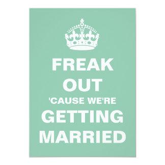 """Freak Out Wedding 5"""" X 7"""" Invitation Card"""
