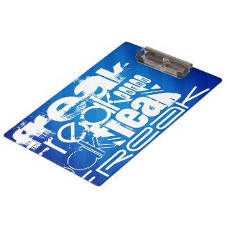 Freak; Royal Blue Stripes Clipboard
