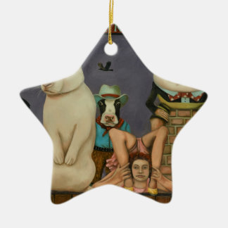 Freak Show Ceramic Ornament