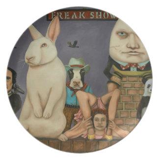 Freak Show Party Plates