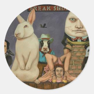 Freak Show Round Sticker