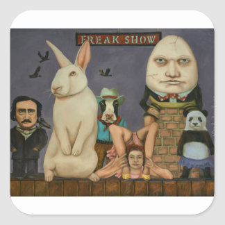 Freak Show Square Sticker