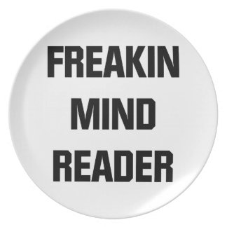 Freakin Mind Reader Party Plates