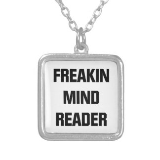 Freakin Mind Reader Silver Plated Necklace