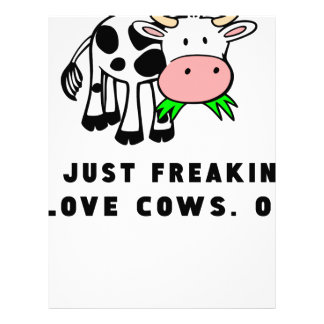 Freaking love cows ok letterhead