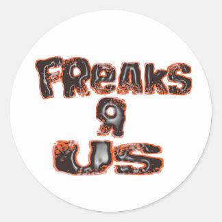 FreaksR Us Classic Round Sticker